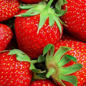 Erdbeeren in der Nahmaufnahme