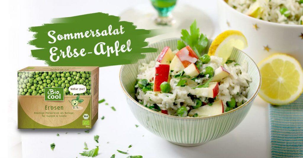 Sommersalat Erbse-Apfel Rezeptbild