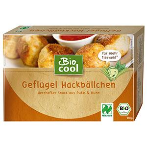 BioCool Geflügel Hackbällchen Verpackung